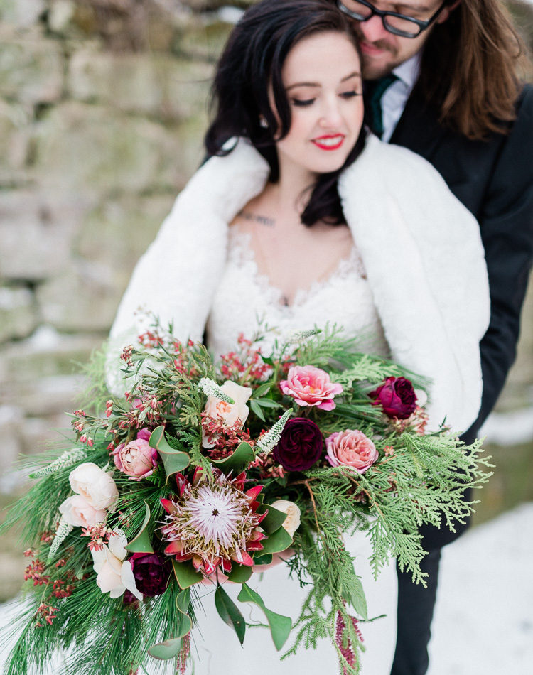 Winter Bridal: Hazel + Casey